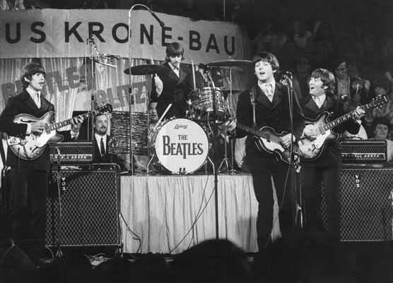 Photo Beatles on the stage - KEYSTONE AGENCY