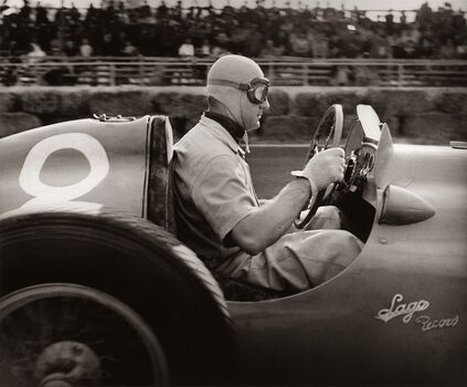 Photo Grand Prix d'Albi, 1951, Louis Rosier - Jean Dieuzaide