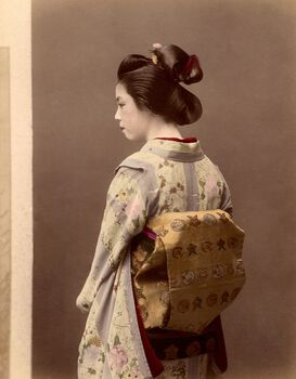 Photo Portrait d'une geisha, vers 1880 - PHOTOGRAPHE ANONYME