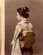 Portrait d'une geisha, vers 1880