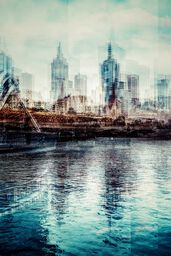 Melbourne from Yarra Footbridge