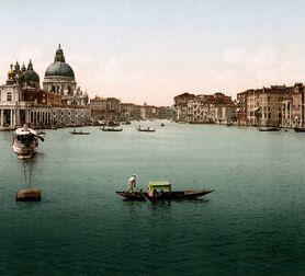 Photo L'ENTRÉE DU GRAND CANAL DE VENISE 1895 -  ADOC