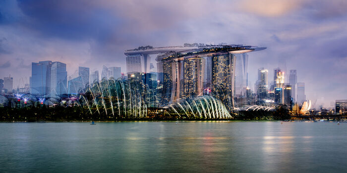 Photo Marina Bay Skyline - Laurent Dequick