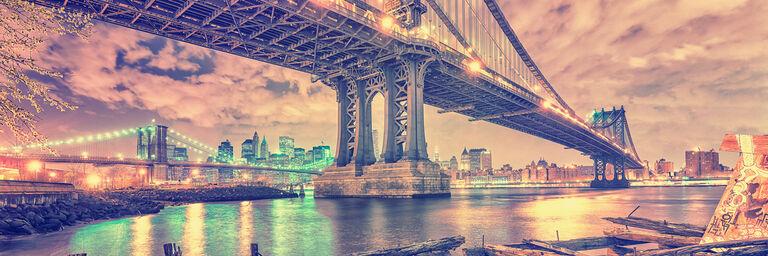 MANHATTAN and BROOKLYN BRIDGE