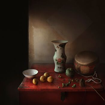 Photo La table rouge - Yang Bin