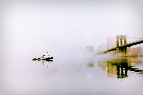 Tugboat in the Fog