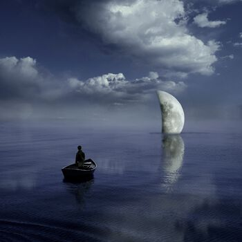 Photo Moonset - Alastair Magnaldo