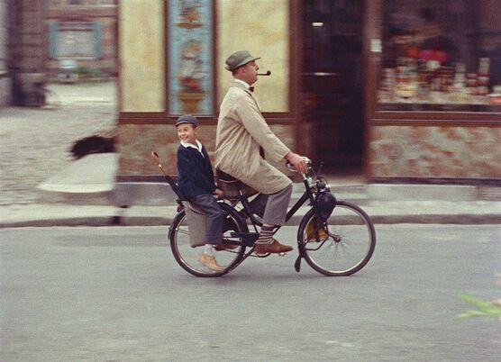 Photo Echappée belle du petit Gérard et de M. Hulot - Jacques Tati