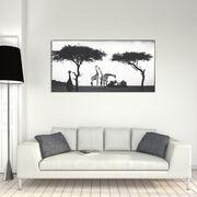 Girafe Between Trees