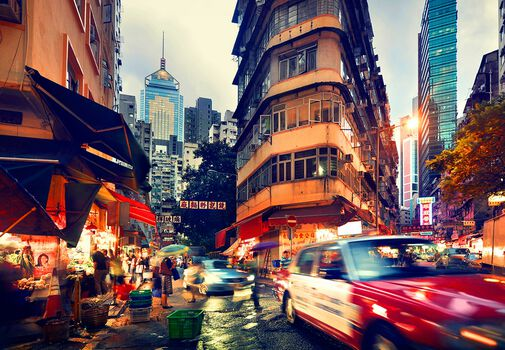Photo Wan Chai at Dusk - Nicolas Jacquet