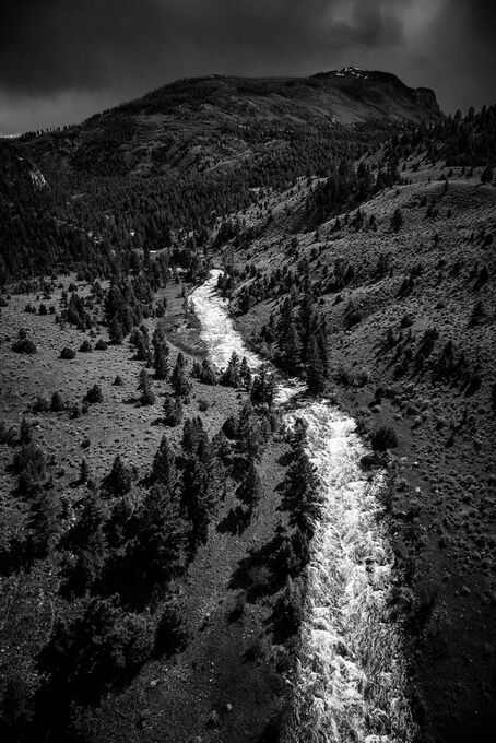 Photo Lamar River Yellowstone - Laurent Baheux