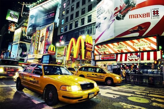 Photo Times Square Taxi - Jörg Dickmann