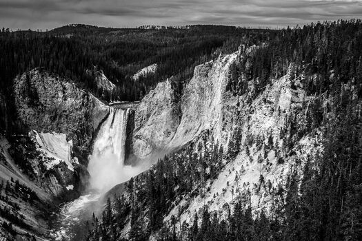 Photo Upper Fall Yellowstone - Laurent Baheux