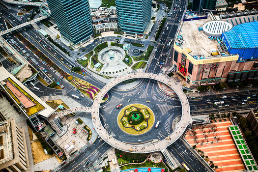 Photo SHANGHAI  MINGZHU ROUNDABOUT - Laurent Dequick