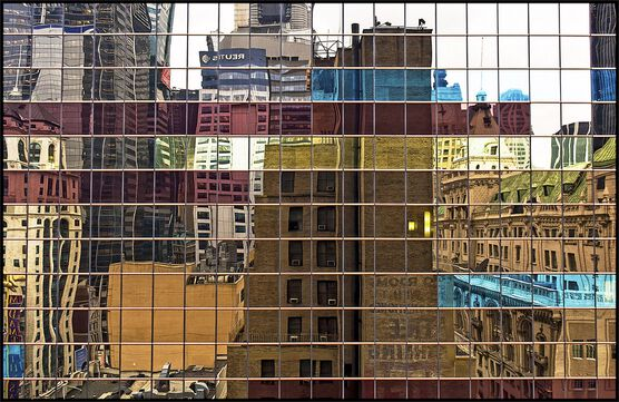 Photo New-York, réflexion - BERNARD JEAN-MARC