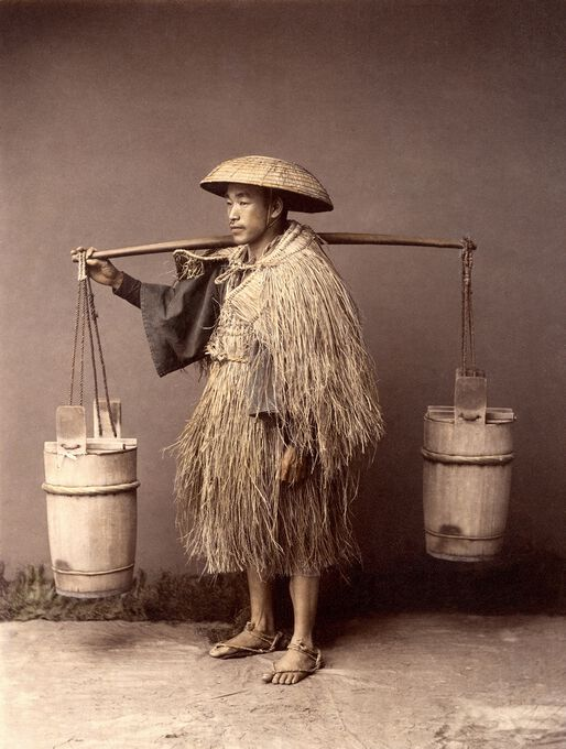 Photo Porteur d'eau, vers 1885 - Kusakabe Kimbei