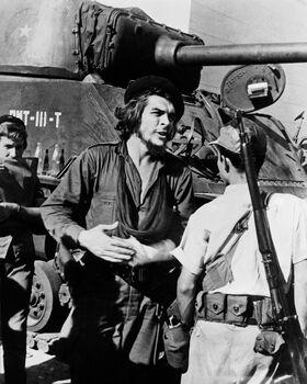 Photo REVOLUTION CASTRISTE - CHE GUEVARA DANS LA BATAILLE DE SANTA-CLARA 1958 - GAMMA AGENCY