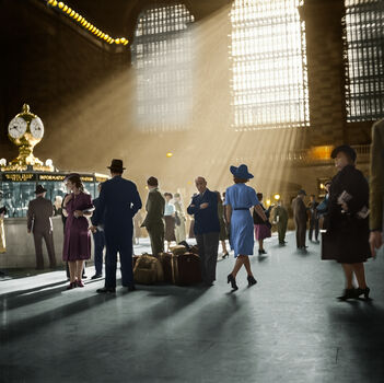Photo 1941 GRAND CENTRAL TERMINAL NYC - Marie-Lou Chatel